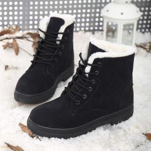 Snow boots 2019 New classic heels suede women winter boots warm fur plush Insole ankle boots women shoes hot lace-up shoes woman