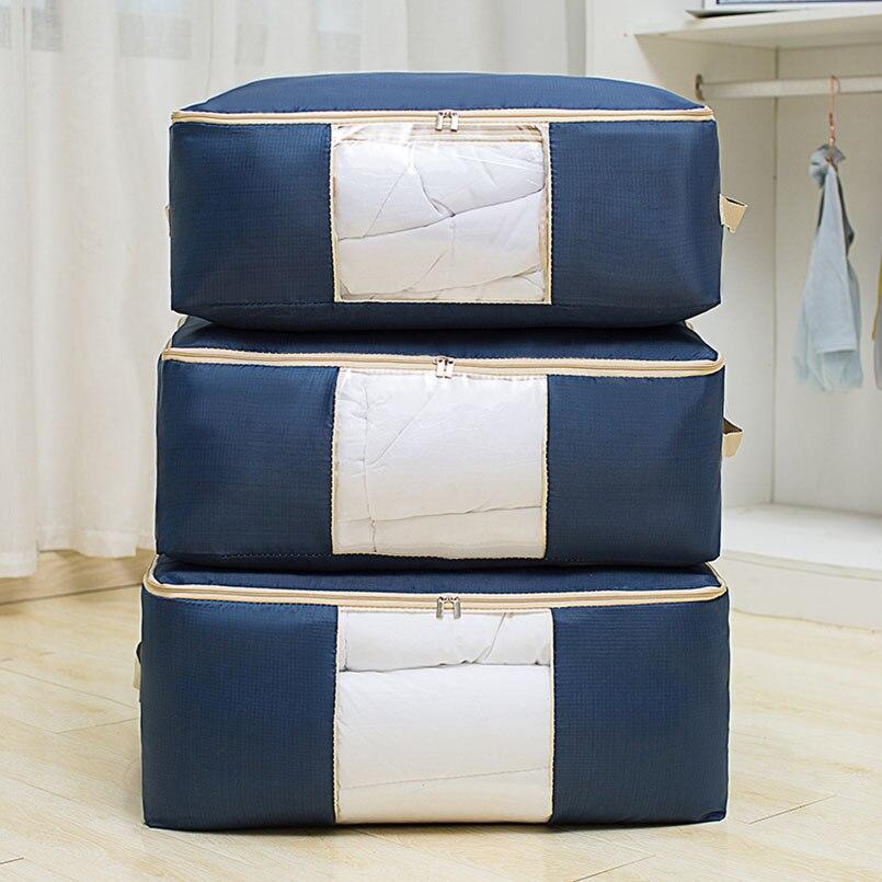 À prova dwaterproof água respirável não tecido portátil saco de armazenamento de roupas organizador saco para roupas oxford pano saco de armazenamento organizador do armário