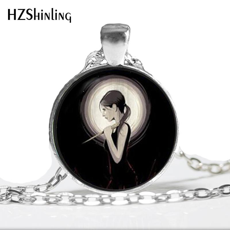HZ--A454 New Buffy The Vampire Necklace Slayer Pendant Jewelry Glass Photo Pendant Necklace HZ1