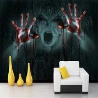 beibehang realistic vampire horror 3d skull rock papel de parede 3d photo wall paper tv background mural wallpaper for walls 3 d