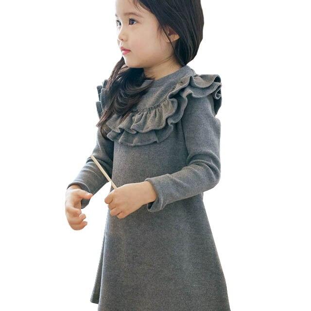 Vestido para niñas, niños, volantes, línea A, alta calidad, 2018, vestido para niñas, ropa para niños, vestidos para bebés, ropa de Princesa a la moda para niñas