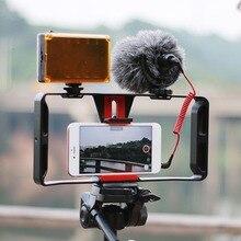 Film de stabilisateur tenu dans la main de Cage de caméra vidéo de téléphone faisant la plate-forme pour le stabilisateur de téléphone portable de support de poignée de main de SmartPhone