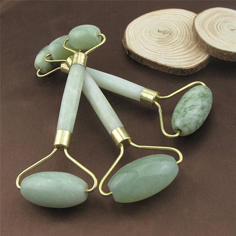 1 pçs rosto fino massageador ferramenta de relaxamento natural beleza facial ferramenta de massagem jade rolo navio da gota rosto massageador jade rolo