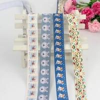 5816mm cutie printed fold over elastic ribbon hair ties printed elastic ribbon bows diy handmade clothing accessories