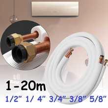 Klimaanlage Rohre Fittings Paar Spule Rohr 1/2/3 Isolierte Kupfer Rohr Split Linie 5/8 3/8 Hinzufügen Fluorid Kältemittel Rohr