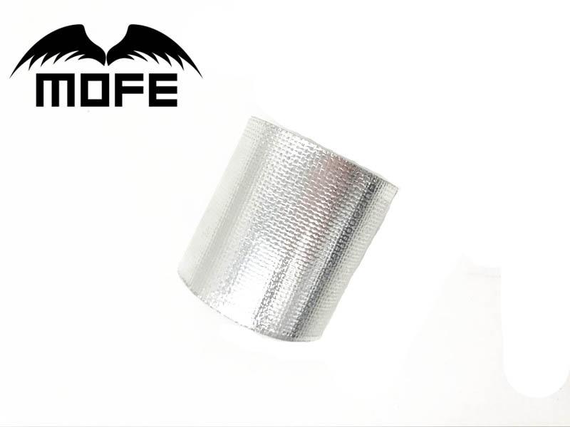 MOFE A Silver termal Tape Air Intake Escudo de aislamiento térmico Wrap reflectante Heat Barrier autoadhesivo motor 2 pulgadas
