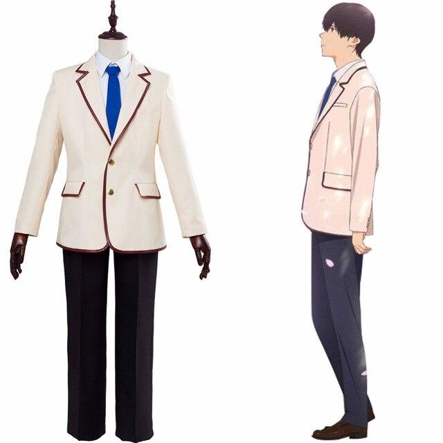 [STOCK] animé 2018 I Want to Eat Your páncreas KimiSui Shiga Haruki uniforme escolar para hombres Halloween envío gratis nuevo personalizado