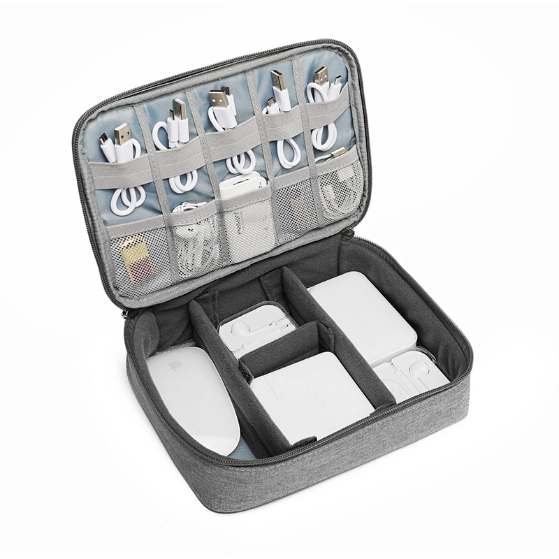 Accessories Carry Bag Gadget Bag Travel Cable Case Electronics Organiser for ipad/Chargers/Cables/Powerbank/Hard Drive