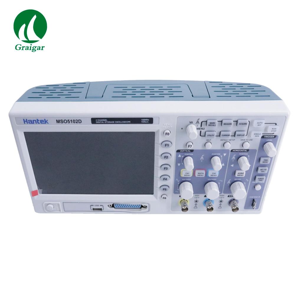 Hantek 100MHz MSO5102D señal mixta osciloscopio Digital 16 canales lógicos con 2 canales analógicos y canal de disparo externo