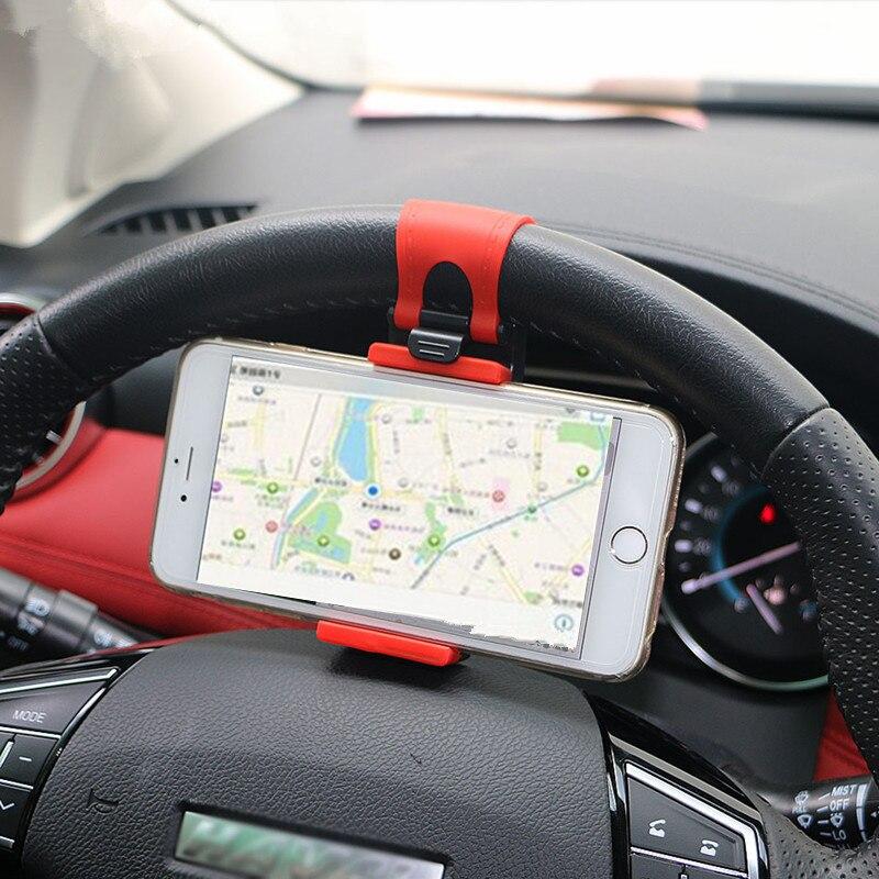 Car Steering Wheel Mobile Phone Stand Socket For KIA RIO Ford Focus Hyundai IX35 Solaris Mitsubishi ASX Outlander Pajero