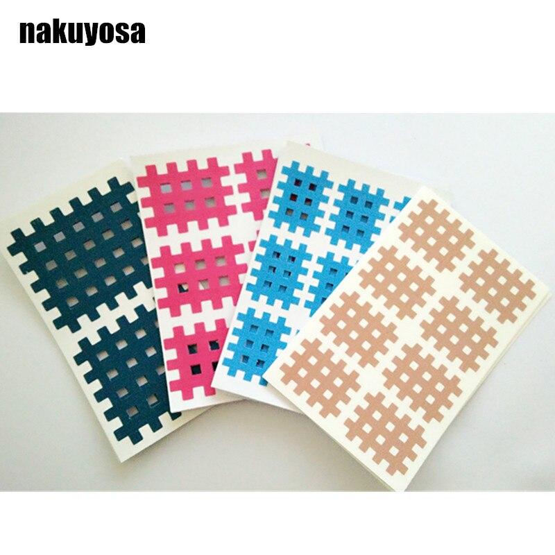 (100 hojas/paquetes) cinta de kinesiología cruzada en espiral 2 uds./6 uds./8 Uds./9 Uds./cinta cruzada de terapia física de hoja de color mezclado