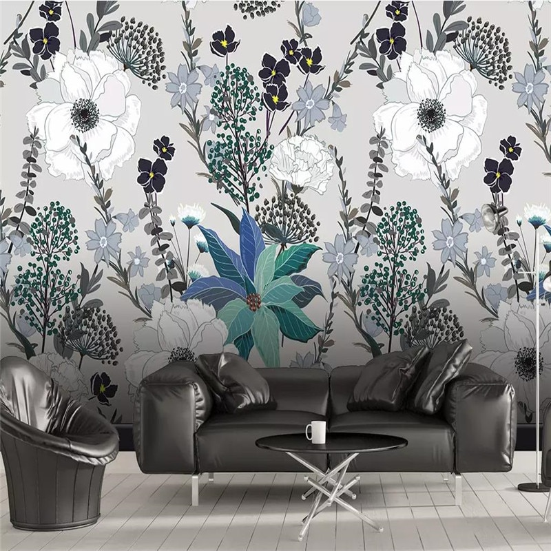 3D wallpaper European style hand-painted tropical plants leaves flowers background wall professional production mural photo wall professional 10x20ft hand painted column arch scenic muslin photo backdrop background customized service size photos
