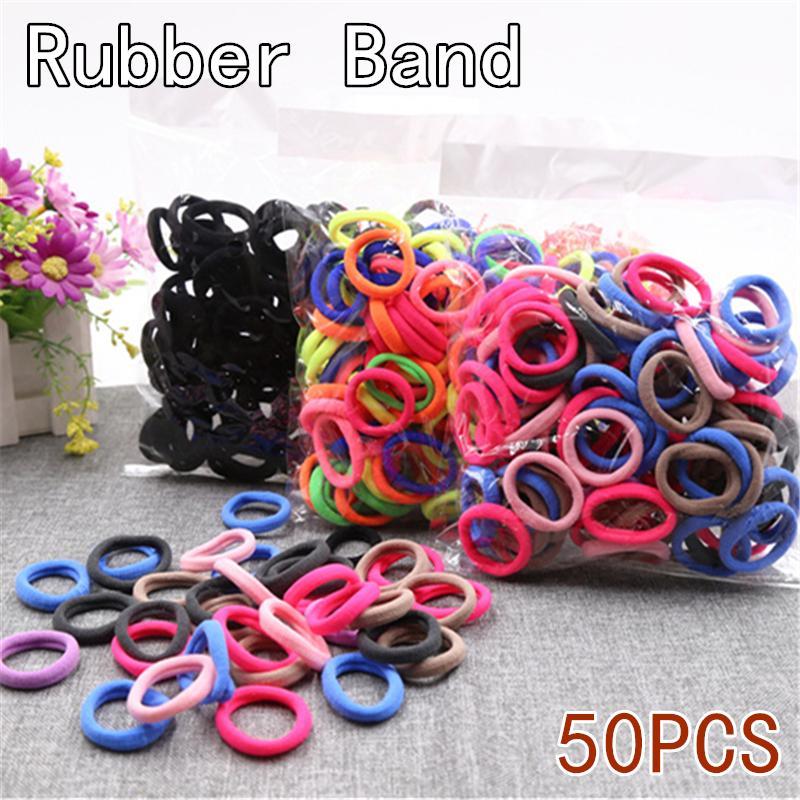 10/30/50pcs Mini Elastic hair bands Black Colorful Scrunchies Elastic Hair Band Rings Rope Headwear Rubber Ponytail Accessories
