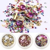 3d diy nail art supplies crystals rhinestones gems charms mix strass decoration crystal jewelry gel glitter nails accessories