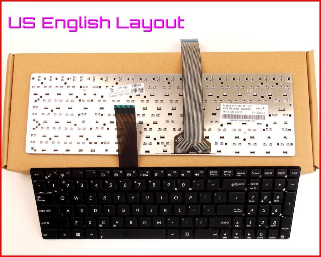 New Keyboard US English Version for ASUS K55VJ K55VS K55A-BBL4 K55N-RHA8N29 K55VD K55VD-DH51 K55VD-DS71 Laptop Non-Frame