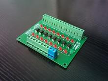 8 방향 광전 절연 모듈 plc 신호 레벨 8 채널 전압 변환기 npn 출력 DST-1R8P-N oc b8