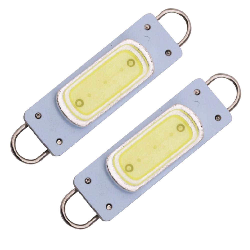 YSY 20 шт. C5W Автомобильные светодиодные жесткие петли 44 мм COB 3 Вт лампы для дверных