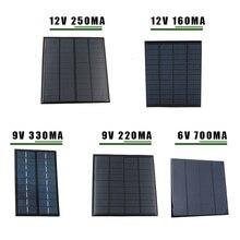 Панель солнечной энергии 6V 9V 12V Мини Солнечная система DIY для аккумуляторов Зарядные устройства для мобильных телефонов портативная солнечная батарея 2W 3W 4,5 W