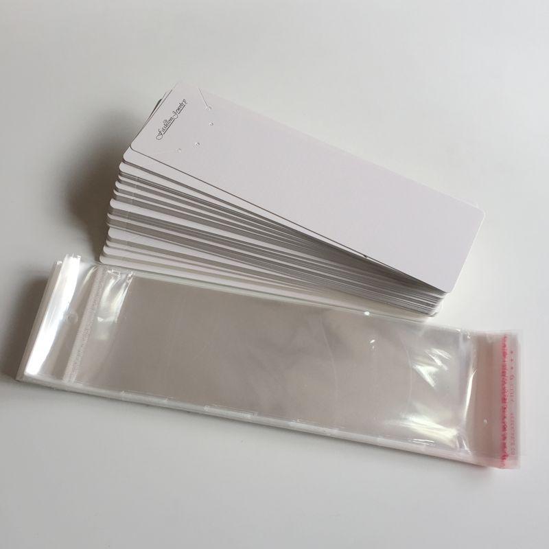 20*6 см 100 комплектов Opp мешок с бумажной картой и Opp полиэтиленовый пакет ожерелье и серьги комплект ювелирных изделий упаковка