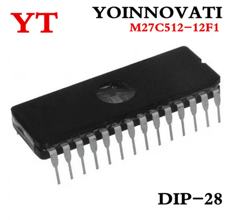 10 unids/lote M27C512-12F1 27C512 EPROM UV 512KBIT 120NS DIP-28 mejor calidad ic