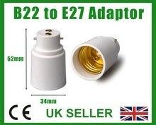 baionetta b22 - e27 lampada vite lampadina socket cap base converter adattatore holder