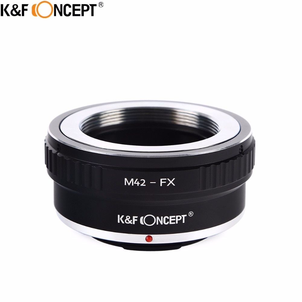 K&F CONCEPT M42-FX Camera Lens Adapter Ring for M42 Screw Mount Lens to for Fujifilm FX Mount X-Pro1 X-E1 X-M1 X-A1 X-E2 Camera lr fx leica r lens to fujifilm x pro1 mount adapter black
