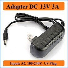 13V 3A Ons Plug Ac Dc Adapter Ac 100-240V Converter Naar Dc 13V 3000mA Adapter lader Voeding Zwart 5.5 Mm X 2.1-2.5 Mm Jacks