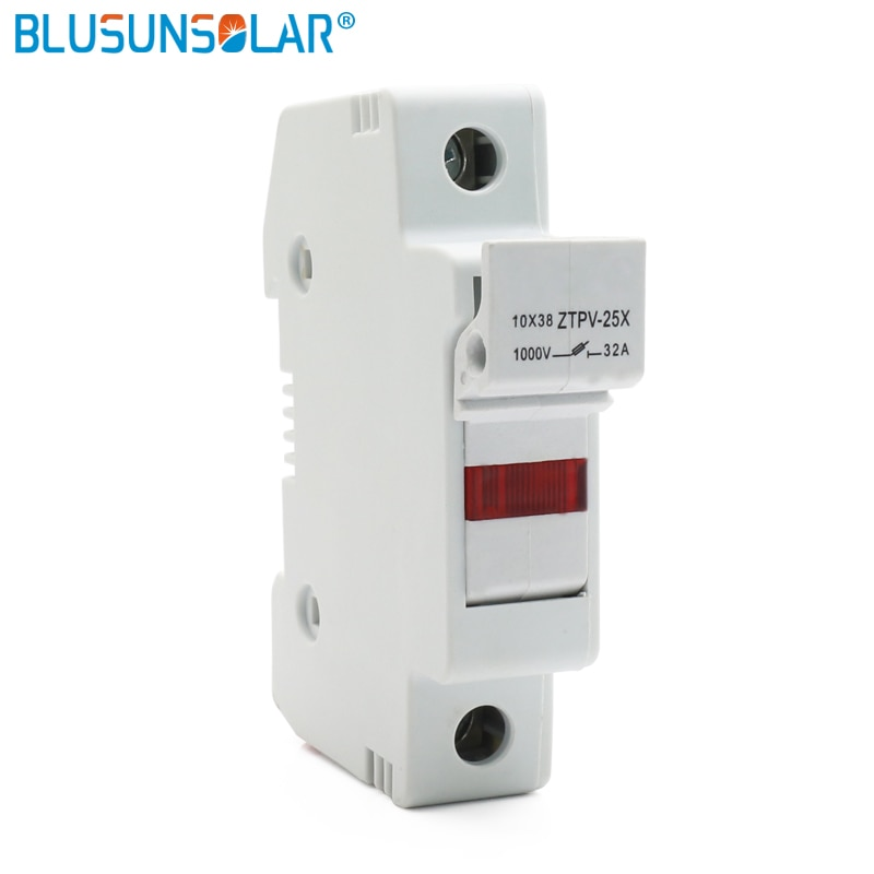 1 Juego de fusibles solares PV 1000V DC Fusible 10x38 gPV, con portafusibles LED para ZTPV-25X de protección del sistema Solar