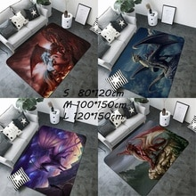 1PC dragón misteriosa criatura dragón impreso alfombras habitación esterilla Mat Babyplay alfombra Mat esterilla alfombra para el dormitorio