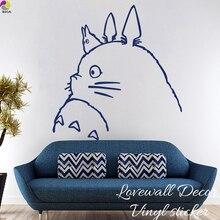 Cartoon My Neighbor Totoro Muursticker Kinderkamer Spirited Away Chihiro & Haku kat Dier Decal Woonkamer Vinyl Decor Art