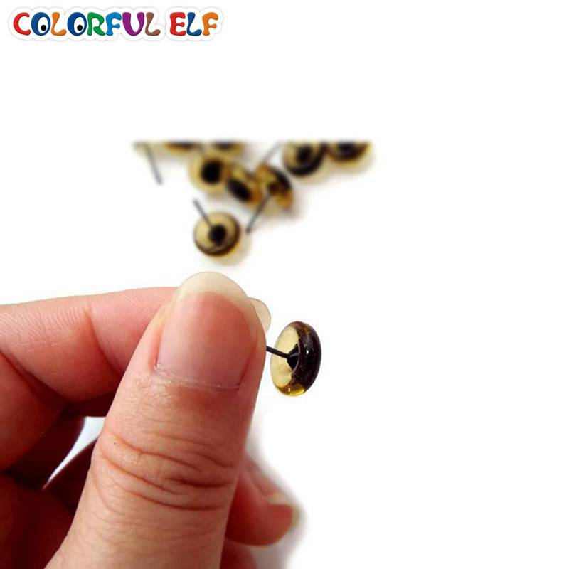 Free Shipping Brown Color Glass eyes 100ps 3mm-12mm Wholesale Glass Eyes On Wire Pins
