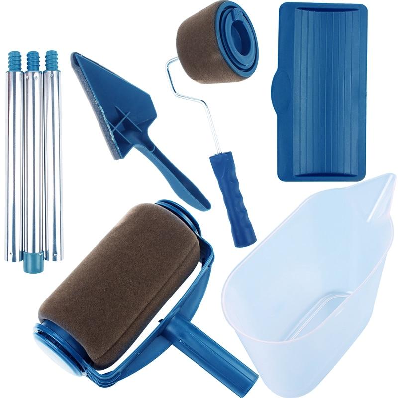 Pinsel Griff Werkzeug Runner Roller Pro Rollen Wand Malerei Kit Wände Set Edger Room Home Garten + Verlängerung Pol rohr DIY