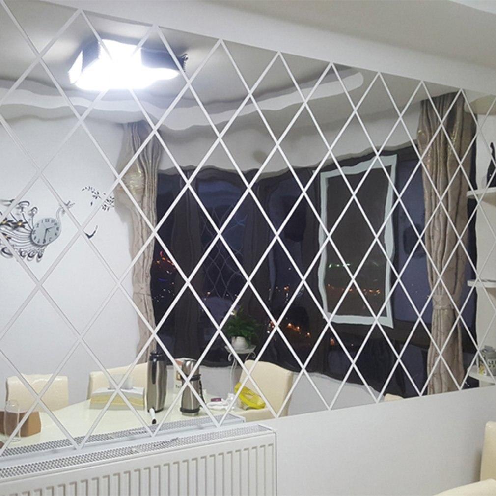 Espejo 3D extraíble impermeable autoadhesivo pegatinas de espejo hogar Baño pegatinas de pared para cocina Decoración de cocina