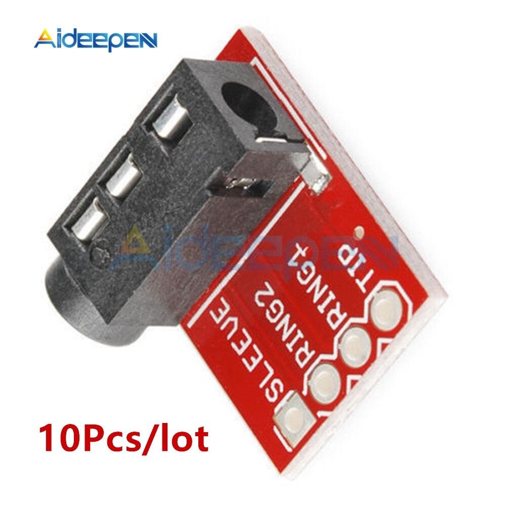 10 unids/lote TRRS tarjeta de Audio Jack de 3,5mm auriculares estéreo de auriculares de Audio Placa de módulo de extensión