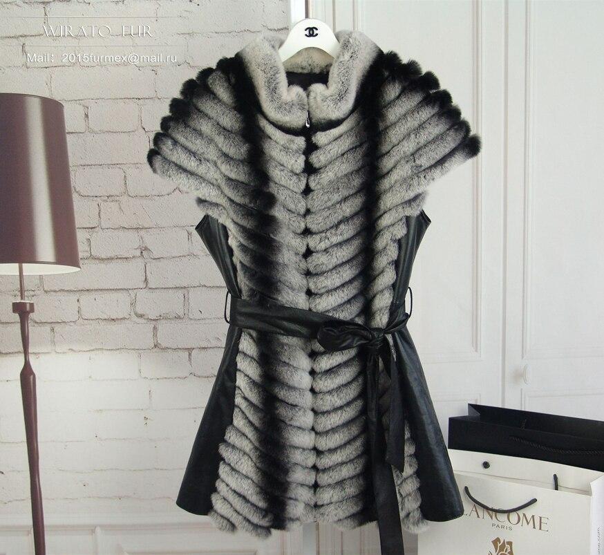 SALES HIT autumn-winter 2015 women's fur vest rabbit Rex vest chinchilla rabbit with natural warm jackets for women