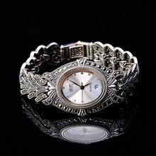 Thai argent vente en gros S925 bijoux en argent sterling entreprise dame thaïlande Bracelet montre