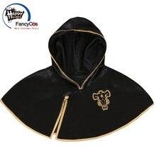 FancyCos Black Clover Cloak Anime Cosplay Costume Asta Cloak Black Bull Cape Finral Roulacase Cosplay Costume Halloween