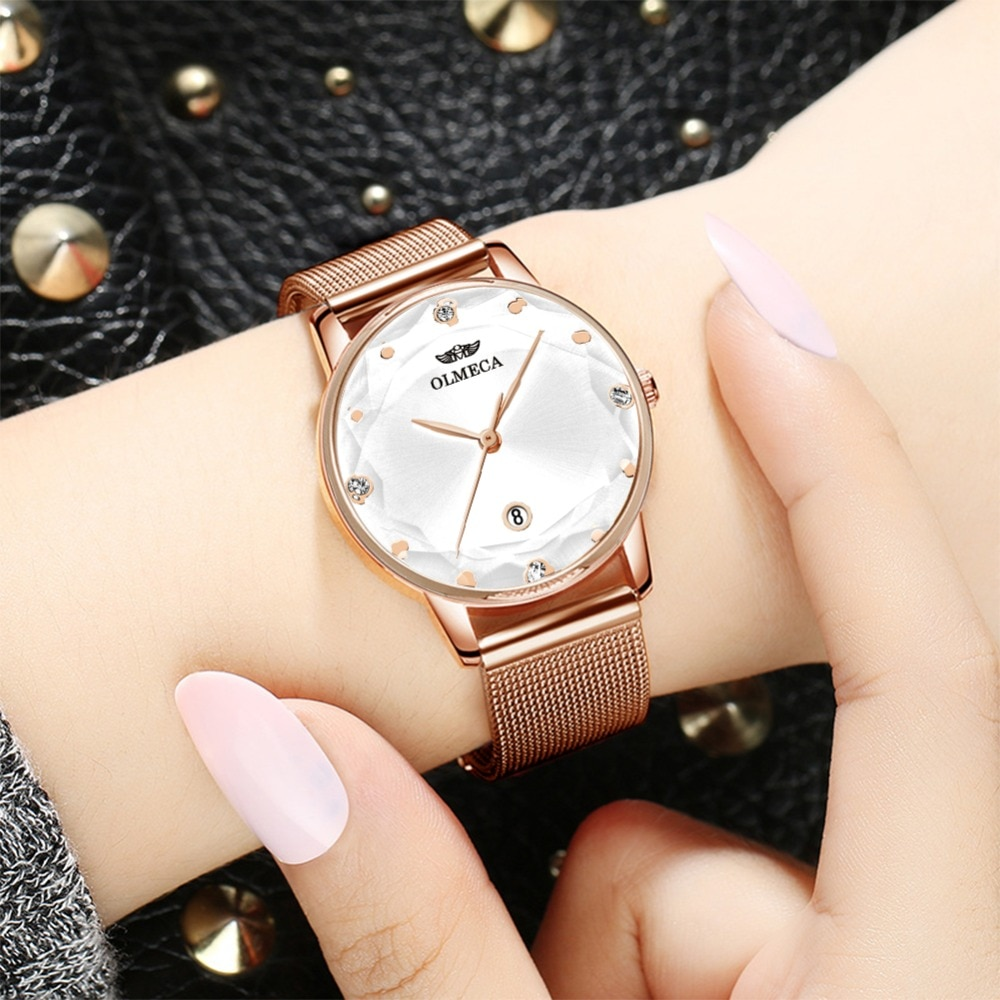 Sport Women Watches OLMECA Luxury Brand Watch Dress Reloj Mujer Water Resistant Clock Wrist Watch Milanese Bracelet Watch Band enlarge