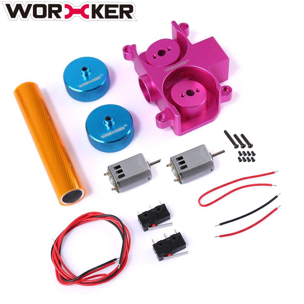 Trabalhador super-e peças conjunto para nerf hyperfire para nerf módulo regulador modificação substituição (padrão de diamante)-rosa + azul