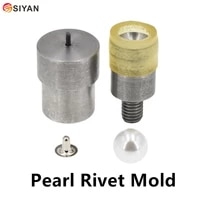 acrylic beads rivets cap stud with screws installation tool hand press pearl button die 8mm 20mm mold for bag hat shoe clothing