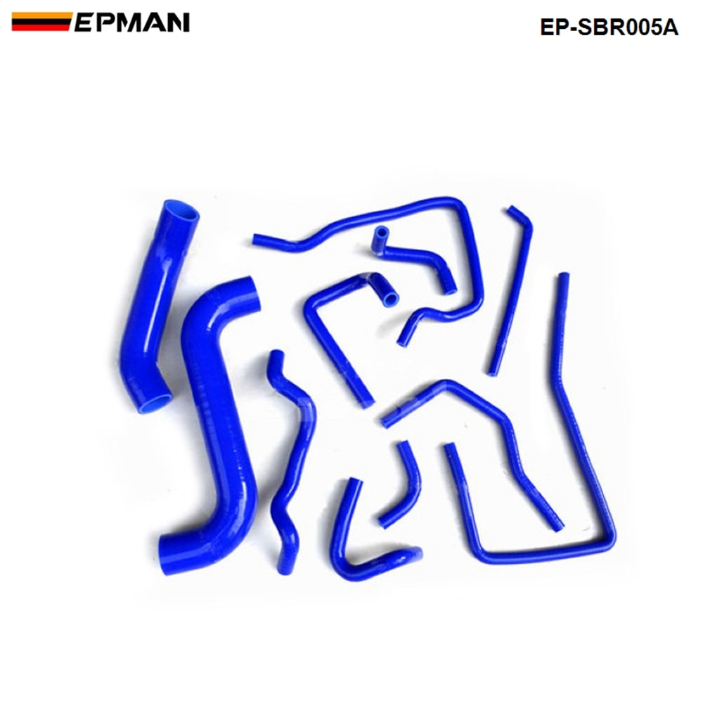 Гоночный силиконовые турбо шланг радиатора отопителя Комплект для Subaru, автомобильные аксессуары, брелок для автомобиля Subaru WRX ИППП помощью GDB,EJ20 00-07 (11 шт.) EP-SBR005A