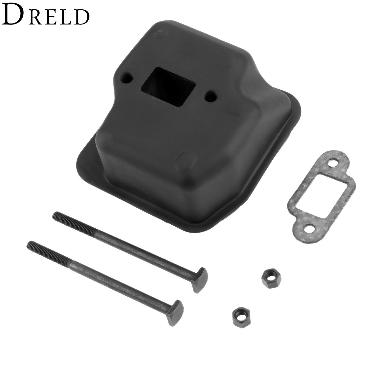 DRELD Chainsaw Muffler with Bolts Gasket Sprocket Cover for STIHL MS250 025 021 210 023 230 Chainsaw Replacement 1123 140 0608
