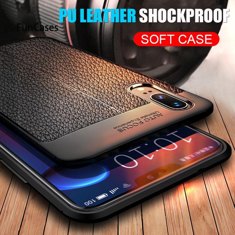 Funda de cuero suave PU para Huawei P30 Pro P20 Lite, funda de lujo a prueba de golpes para Huawei P20 Pro P30 Lite, funda trasera para teléfono