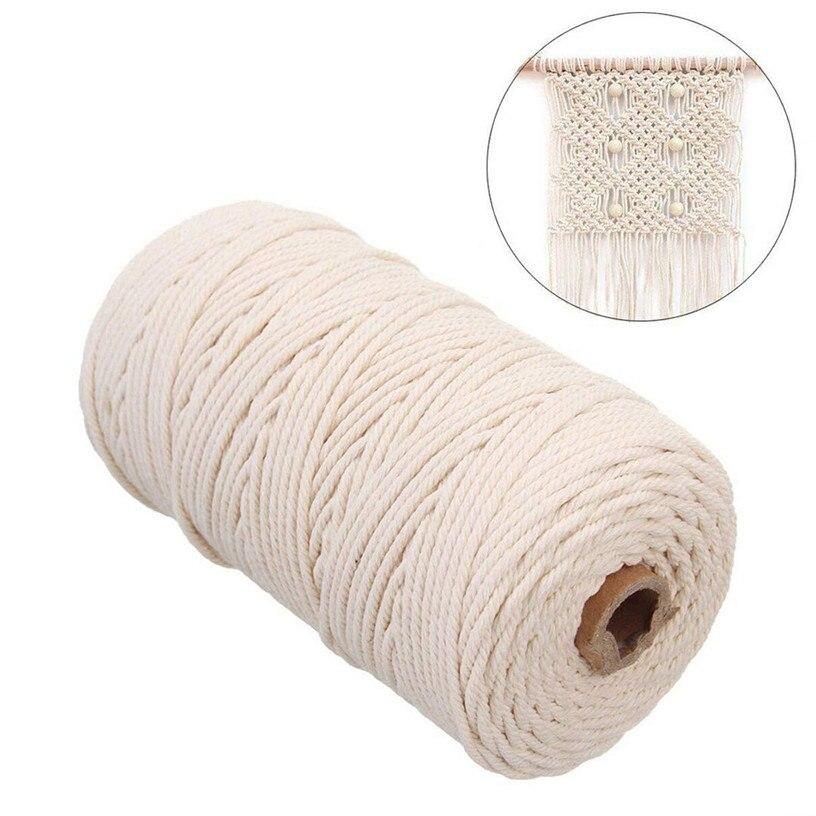 2mm x 200m cabo de algodão macrame para parede pendurado apanhador de sonhos artesanal artesanato arte diy mão tecido algodão corda 9m26