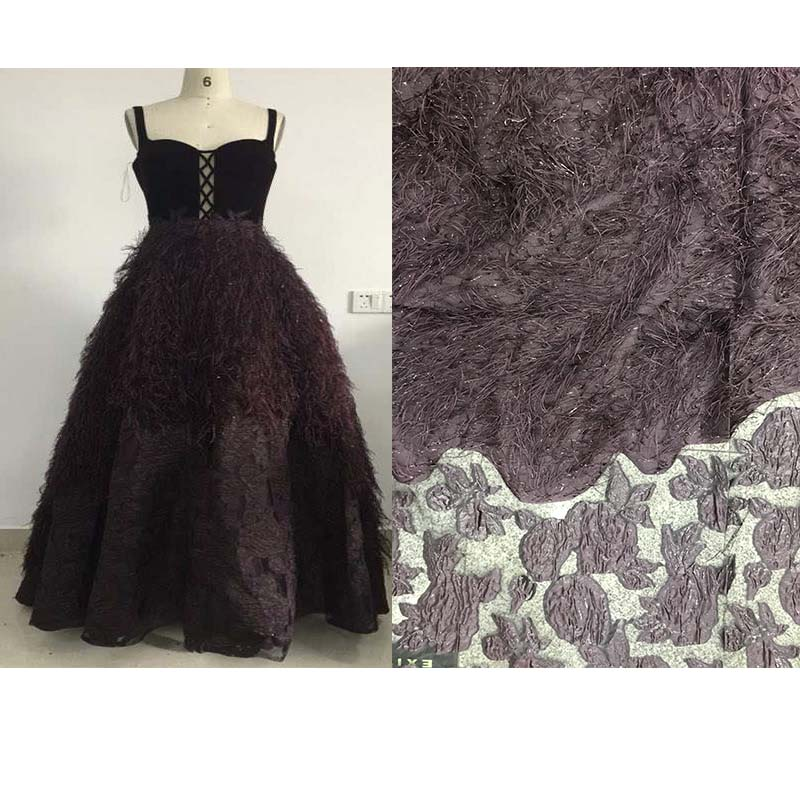 Tejido Jacquard tejido de alta calidad tejido de brocado de jacquard de estilo occidental teñido para mujer