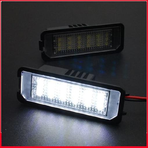 2 шт. Белый светодиодный фонарь заднего номерного знака без ошибок для Scirocco R (2008-up)