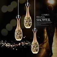 New Nordic Led pendant lights lamp crystal +metal pendant lamp modern lighting fixtures for dining room living room bar art deco