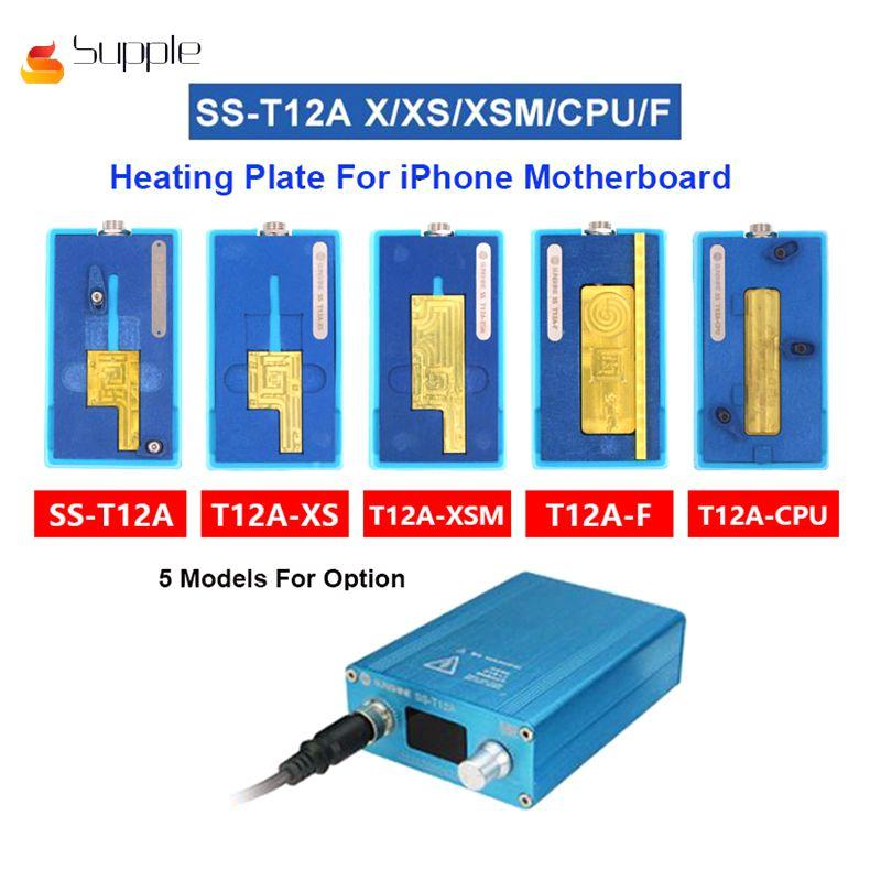 Supple SS-T12A para iPhone Motherboard Estação de Aquecimento Separador Para o iphone X/XS/pp MAX CPU Chips IC Desmontagem removedor de cola