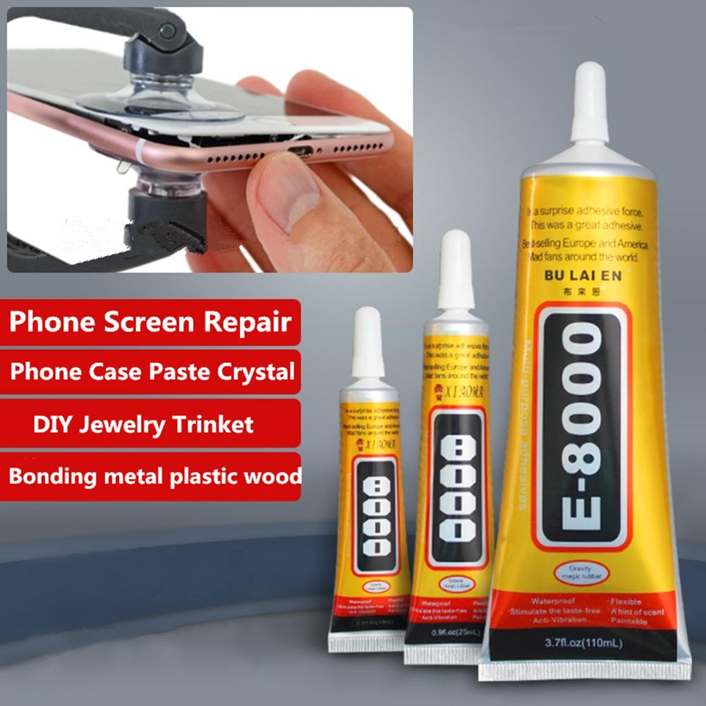 E8000 50ml Liquid Glue Super Strong Multi purpose Adhesive Jewelry Crafts Crystal Rhinestone DIY Fix Phone Screen Glass Nail Gel