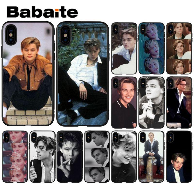 Babaite Leonardo DiCaprio TPU teléfono negro caso cubierta de Shell para iPhone 5 5Sx 6 6 7 7plus 8 8Plus X XS X MAX XR